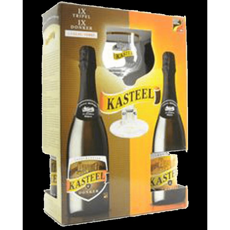 Kasteel kufřík 1 + 1 + sklenice - Bierhuis.cz