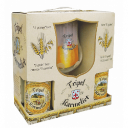 Tripel Karmeliet kufřík 4 + sklenice - Bierhuis.cz
